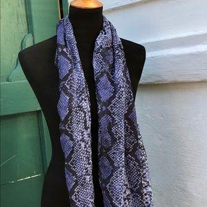 Target blue python snake print scarf